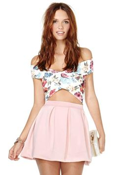 Rose Tattoo Crop Top