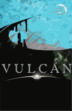 Vulcan travel poster.