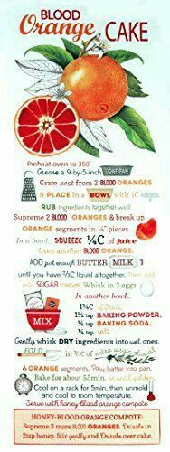 Blood Orange Cake Recipe Kitchen Towel