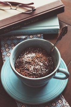 A Zesty Bite 5 Minute Chocolate Cinnamon Mug Cake - oh my!  I have all the ingredients and plenty of mugs.  I must give it a try.