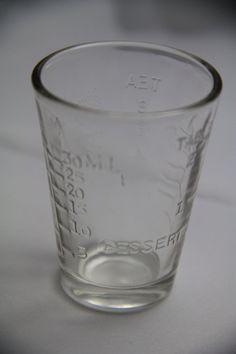Vintage Glasco Measuring Shot Glass Dessert Tea 1 oz 30 ml