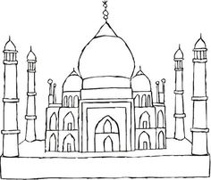 taj mahal continents homework le monde coloring architecture india to draw