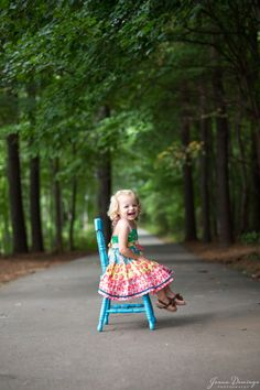 2 yr old in Matilda Jane dress. Outdoor session by Jenna Domingo Photography (Winston-Salem, NC)