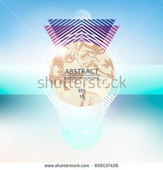 Abstract Modern Geometric Background Beach Party Flyer Vector