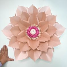 Giant Paper Flower Templates | 3D Large Paper Flower Stencil Pattern | DIY Handmade Paper Flowers | Paper Flower Decor and Backdrop for Weddings and Events Paper Flower Decor, Large Paper Flowers, Paper Flowers Wedding, Flower Decorations, Paper Flower Tutorial, Flower Template, Flower Patterns, Stencil, Crafts For Kids