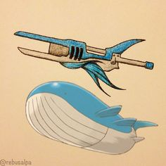 Pokeweapon No. 321 Wailord (Handcannon)