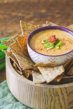 This creamy, spicy dip takes vegan queso to a new level. Trust us, you're gonna wanna pour this on everything from nachos to veggie burgers!