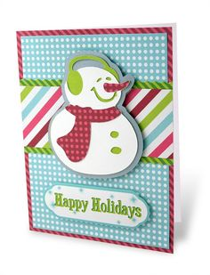 Snowman Tis the Season Holidazzle Card Project Idea from Creative Memories.  reference only - site was taken down 9/30/13