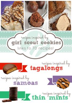 Recipes Inspired by Girl Scout Cookies at www.somethingswanky.com   over 70 links to recipes! #samoas #tagalongs #thinmints