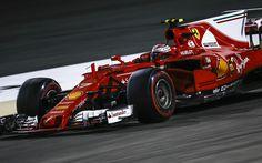 Download wallpapers Ferrari SF70H, Kimi Raikkonen, Scuderia Ferrari, Formula 1, the Finnish racer, Ferrari