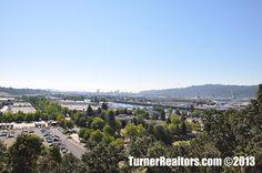 A view of the St. Johns neighborhood in Portland, Oregon. Portland Neighborhoods, Columbia River, The St, Portland Oregon, Small Towns, Paris Skyline, The Neighbourhood, University, Park