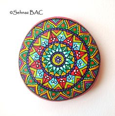 Hand Painted Stone Mandala by ISassiDellAdriatico on Etsy, €40.00