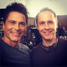 Rob LOwe - On set with my director Chad Lowe, Rob Lowe, Celebs, Celebrities, On Set, Lowes, Movie Tv, The Outsiders, Brother