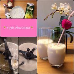 Heute ist Cocktailtime – alkoholfrei:  Virgin Piña Colada  … nicht nur für die Teenies