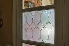 Contact paper on windows - for front door, sidelights, and French doors