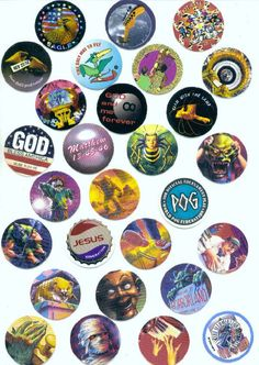 Vintage Lot of POGS Game Pieces : States, Goosebumps, Nature, Apollo and More! B