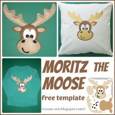 Moritz the moose free template The Ultimate Party Week 26