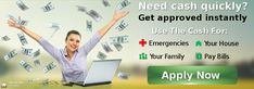 No Credit check for Loans ! Apply for Payday Loan for Easy Cash Advance up to $1000 on same day! http://www.fast-cash-advance-loans.com/payday-loan-online