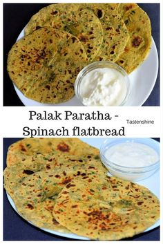 Palak -Spinach contains high amounts of fibre, lots of vitamins and minerals. Palak paratha can make a filling breakfast recipe or can be packed for lunchbox along with curd or mango pickle. Quick Snacks, Quick Recipes, Palak Paratha, Indian Food Recipes, Ethnic Recipes, Tea Time Snacks, Ethnic Food, Pickle, Breakfast Ideas
