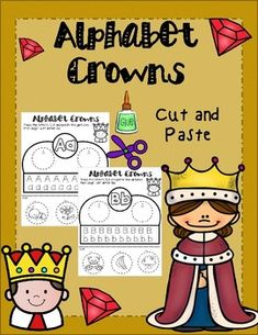 Students love making crowns for any occasion. This educational activity is not only fun but it also help students work on their fine motor skills.One crown for leach letter. Spanish Alphabet, Tracing Letters, Dual Language, Crown Headband, Cut And Paste, Educational Activities, Foreign Languages, Student Work, Headbands