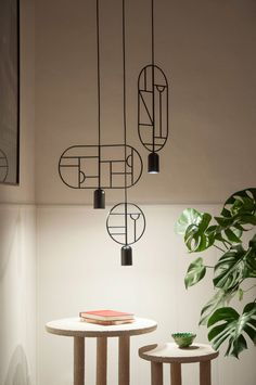 Barcelona design studio Goula/Figuera's collection of Lines & Dots hanging lighting is based on thousands of drawings Recessed Lighting Layout, Low Ceiling Lighting, Suspended Lighting, Home Lighting, Modern Lighting, Lighting Ideas, Cabinet Lighting, Deco Luminaire, Luminaire Design