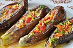 Spicy, spicy, pickled eggplant in Egyptian.