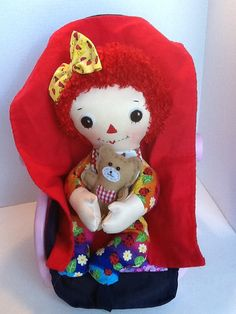 PDF Cloth Rag Doll Pattern Baby Raggedy Ann Easy by PeekabooPorch