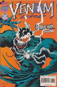 Spider-Man 2099 # 36 (Variant) by Jae Lee & Peter Palmiotti Marvel 2099, Marvel Venom, Marvel Villains, Marvel Comic Character, Marvel Comic Books, Marvel Characters, Venom Comics, Comic Kunst, Comic Art