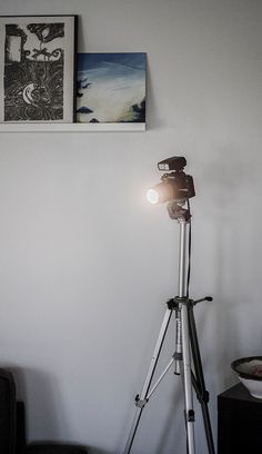 Vintage Camera Lamp on Tripod by Aaronsphotogifts on Etsy, $175.00
