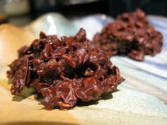 no-bake chocolate haystacks add coconut