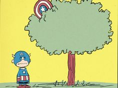 Charlie Brown/Captain America Mashup