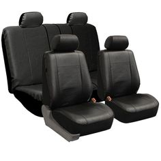 Shop for FH Group Black PU Leather Universal Full Set Solid Bench Seat Covers. Get free delivery at Overstock - Your Online Interior Accessories Store! Best Car Seat Covers, Leather Car Seat Covers, Dog Car Accessories, Interior Accessories, Newcastle, Birmingham, Modern