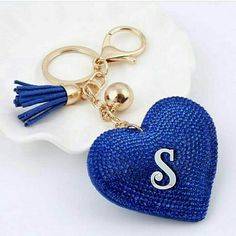 Wouldn't you love to own this cute little heart keychain? - Add some bling to your life. - Adds a vibrant splash color to your bag. - So cute, your friends might get jealous. Stylish Letters, Fancy Letters, Floral Letters, Wedding Letters, Alphabet Letters Design, S Alphabet, Alphabet Images, S Love Images, Stylish Alphabets