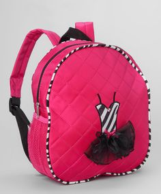 Take a look at this Fuchsia Zebra Tutu Backpack by Seesaws & Slides on #zulily today!