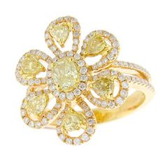 18KR 1.00ctw Diamond Yellow .58ctw Diamond Ring.  I so want this!!!