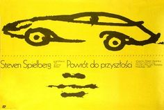 Back to the Future Powrot do przyszlosci Original Polish Movie Poster film, USA director: Robert Zemeckis actors: Michael J. Fox, Christopher Lloyd designer: Mieczyslaw Wasilewski year: 1986 size: B1