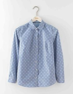 Weekend Shirt WA728 Long Sleeved Tops at Boden - spots on stripes