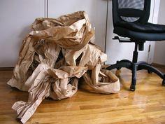 sewing 101: recycled paper basket :: Design Sponge