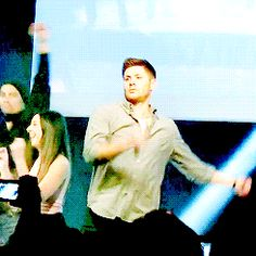 Jensen dancing again.
