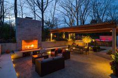 Outdoor Fireplace entertaining area