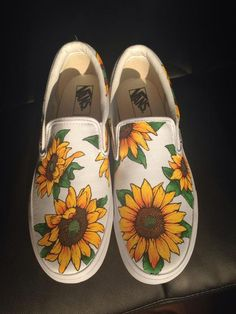8f577050dc0ee2  Canvas Shoes   Magical Canvas Shoes Sunflower Vans