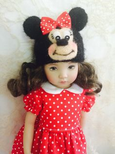 Effner Little Darling My Meadow Avery Minnie Mouse Ensemble Dress Hat Outfit