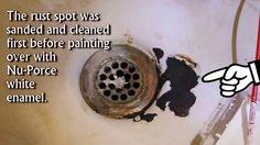 Bathtub Repair, Sink Repair, Porcelain Sink, Ceramic Sink, Household Cleaning Tips, Cleaning Hacks, Painting Bathtub, Furniture Repair, Home Repairs