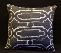 Decorative pillow cover. Black and white pillow geometric throw pillow by Robert Allen.