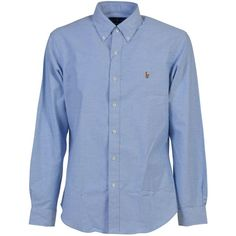 polo-ralph-lauren-slim-fit-stretch-oxford-shirt (1.295 ARS) ❤ liked on Polyvore featuring tops, light blue, mens slim fit casual shirts, mens oxford shirts, mens light blue shirt, mens slim shirts and mens slim fit shirts