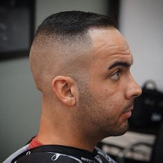 high skin fade for thin hair