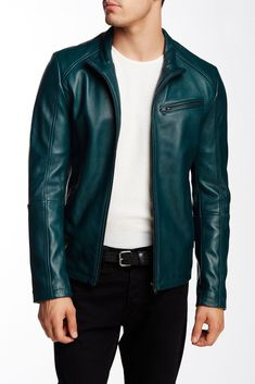 #ebay 7 Diamonds Norwell Genuine leather jacket Men Size M Green Color withing our EBAY store at  http://stores.ebay.com/esquirestore