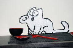 Simon's Cat: Hama Beads :) Fuse Beads, Perler Beads, Pixel Art, Simons Cat, Hama Beads Design, Iron Beads, Perler Patterns, Beading Patterns, Cool Photos