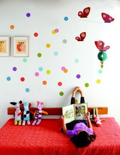 Polka Dot Wall (via Incy Interiors Blog)