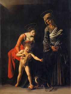 @boftheholyspiri I kinda like this even more - she's like, here, son, it ain't no thing, who's a cute widdle savior stepping on the bad serpent now? CaravaggioSerpent - Madonna and Child with St. Anne (Dei Palafrenieri) - Wikipedia, the free encyclopedia
